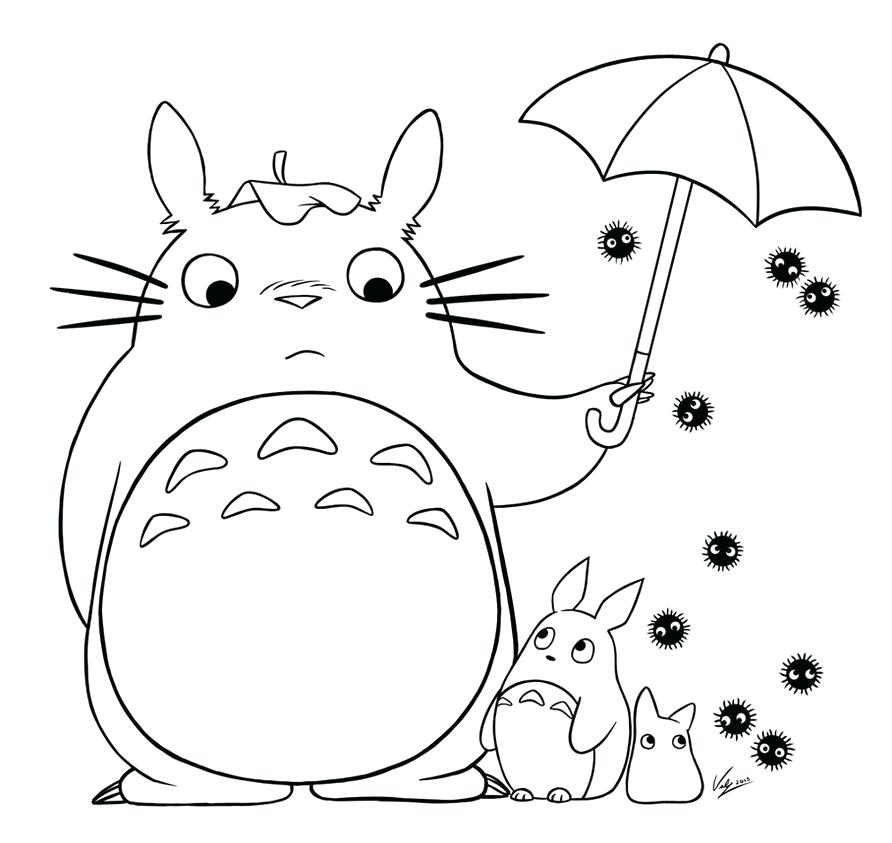 892x843 Totoro Coloring Pages Coloring Pages Colors In My Neighbor Totoro