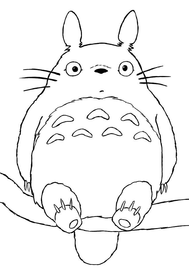 660x962 Totoro Coloring Page Toys, Technology, And Geekery