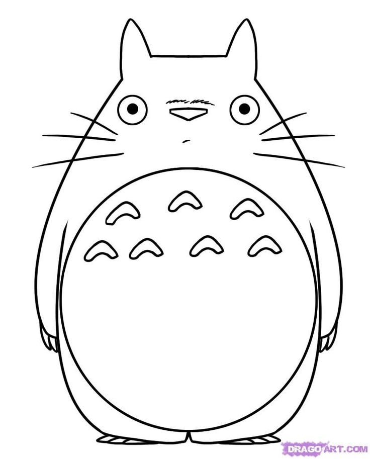 736x913 Totoro From My Neighbor Totoro Coloring Pages Let's Play