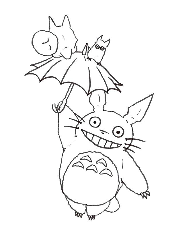 600x834 Coloring Totoro Coloring