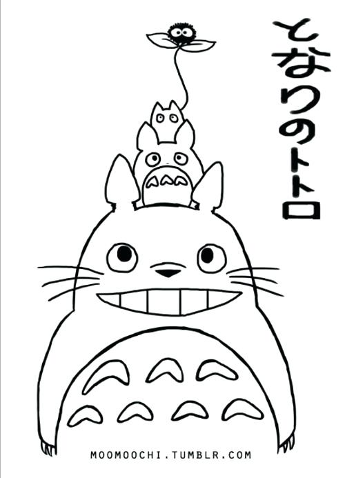 500x693 Coloring Pages Totoro Coloring Book Pages