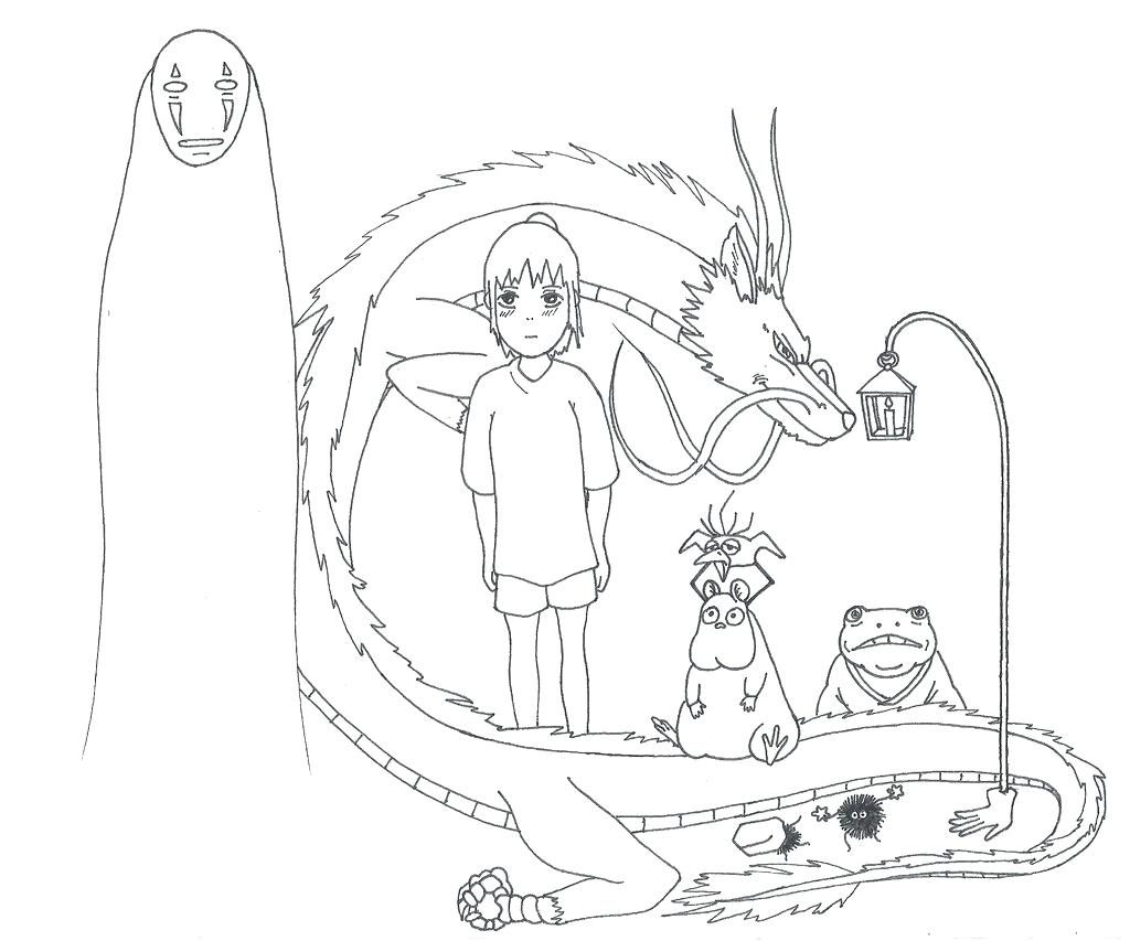 1024x853 Exelent Totoro Coloring Pages Composition Of Within