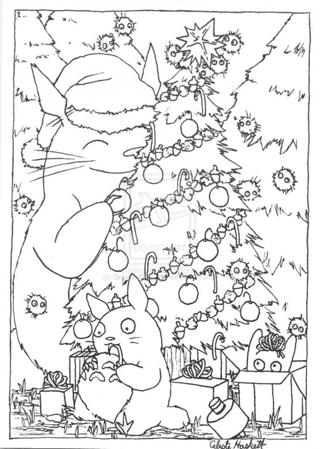 641x900 Japanese Christmas Coloring Pages