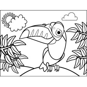 300x300 A Proud Toucan Shows Off His Big, Beautiful Beak In This Printable