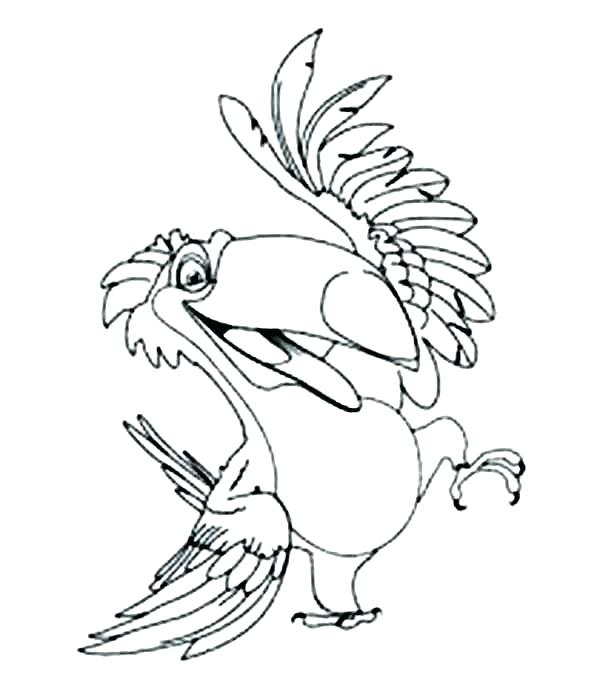 600x686 Toucan Coloring Page Romantic Coloring Pages Toucan Coloring Pages