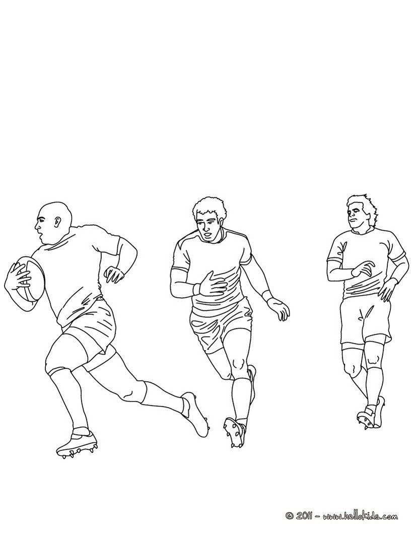 820x1060 Rugby Coloring Pages