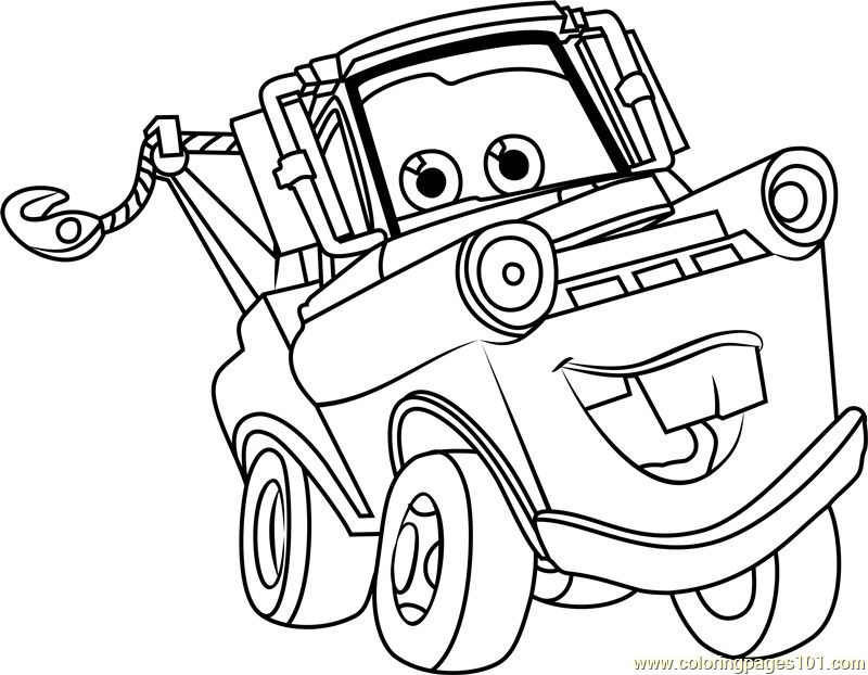 800x622 Tow Mater From Cars Mater Coloring Pages