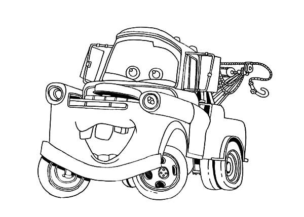 600x429 Disney Cars Character Tow Mater Coloring Pages Color Luna