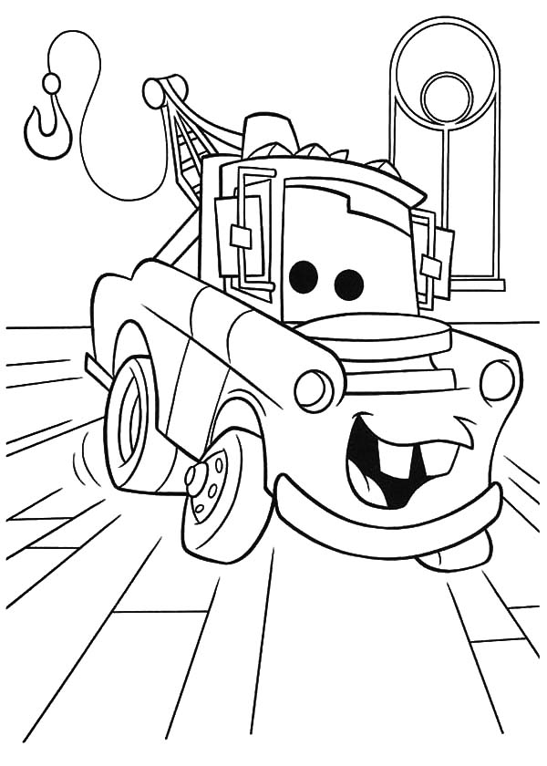 600x840 Disney Cars Character Tow Mater Coloring Pages Disney Cars