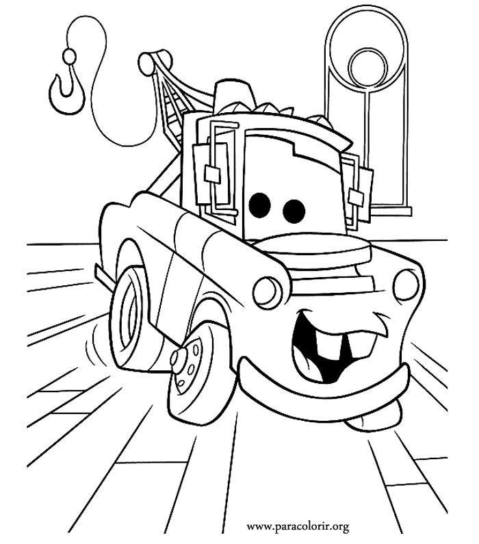 700x795 Disney Cars Mater Coloring Page