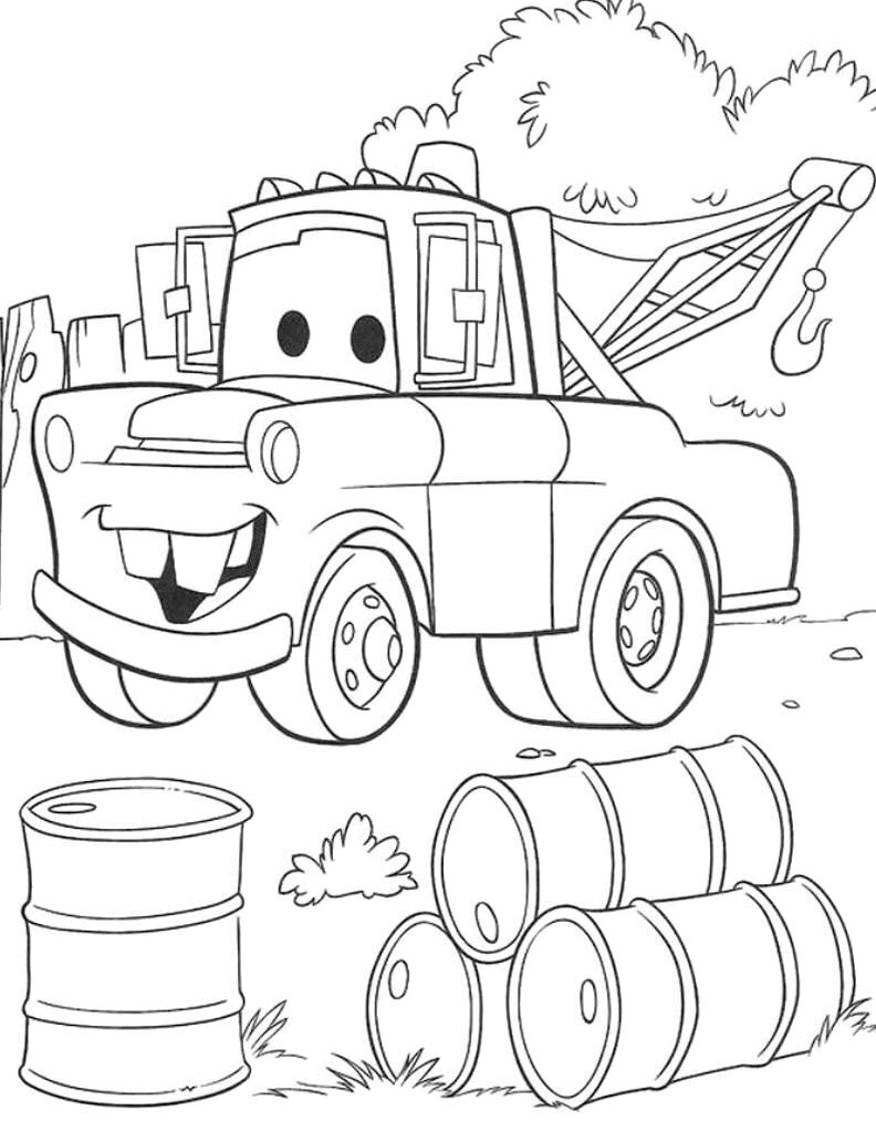 792x1032 Disney Cars Mater Coloring Pages