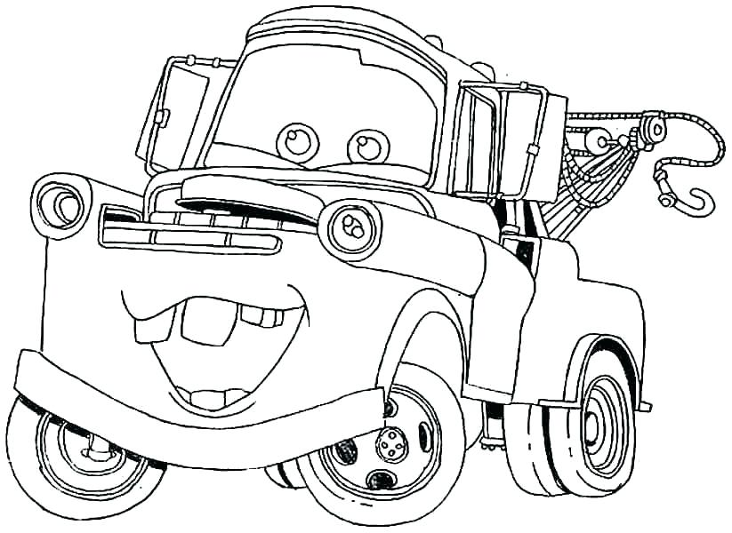 823x600 Mater Coloring Page Cars Lightning Queen Racing Coloring Page