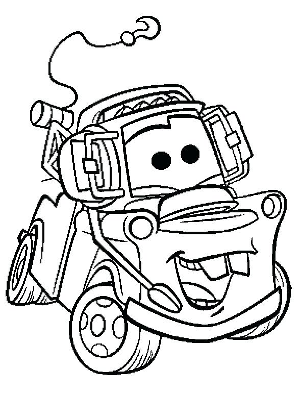 590x770 Mater Coloring Page Mater Ng Book Ng Pages Images Children On Cars