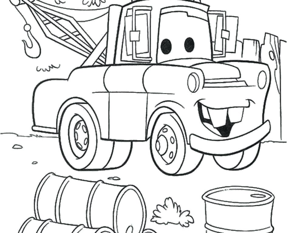945x768 Mater Coloring Pages Cartoon Coloring Book Also Cars Coloring Book