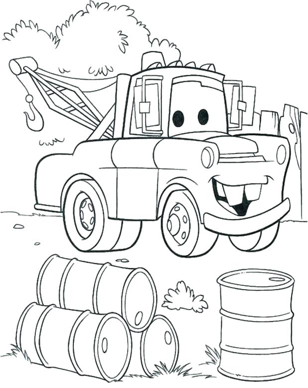 618x778 Tow Mater Color Pages Printable Coloring Mater Coloring Page