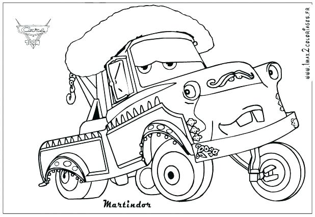 618x426 Tow Mater Coloring Pages Cars Coloring Pages Mater Coloring