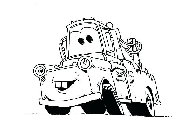 600x451 Tow Mater Coloring Pages Coloring Pages Mater Coloring Page Cars