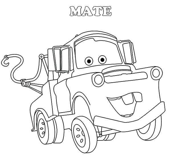 600x551 Tow Mater Coloring Pages Drawing Tow Mater Coloring Pages Tow