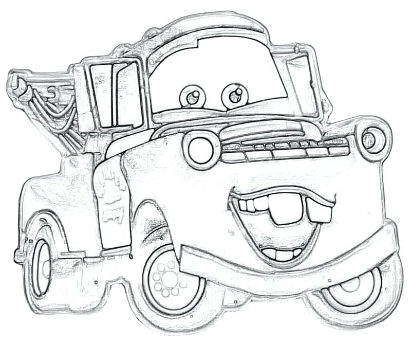 800x667 Tow Mater Coloring Sheets Printable Coloring Mater Coloring Pages