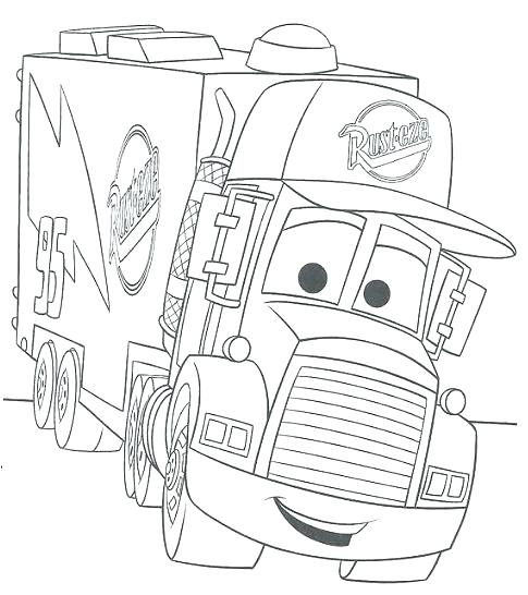 485x546 Coloring Pages Disney Cars Mater Coloring Page Free Cars Coloring