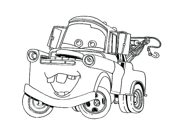 600x429 Tow Mater Coloring Pages Cars Character Tow Mater Coloring Pages