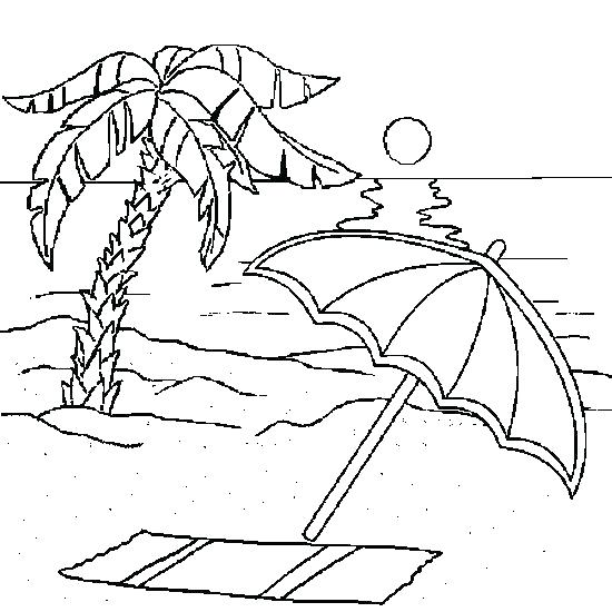 550x550 Coloring Page Beach Beach Scene Coloring Page Beach Coloring Pages