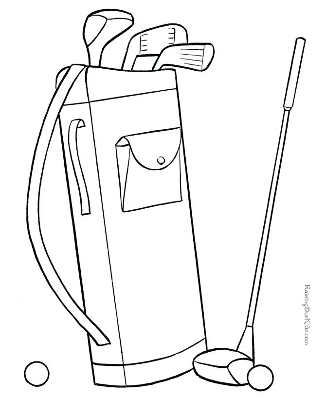670x820 Golf Coloring Pages Golf Bag Coloring Page Best Golf Towel Images