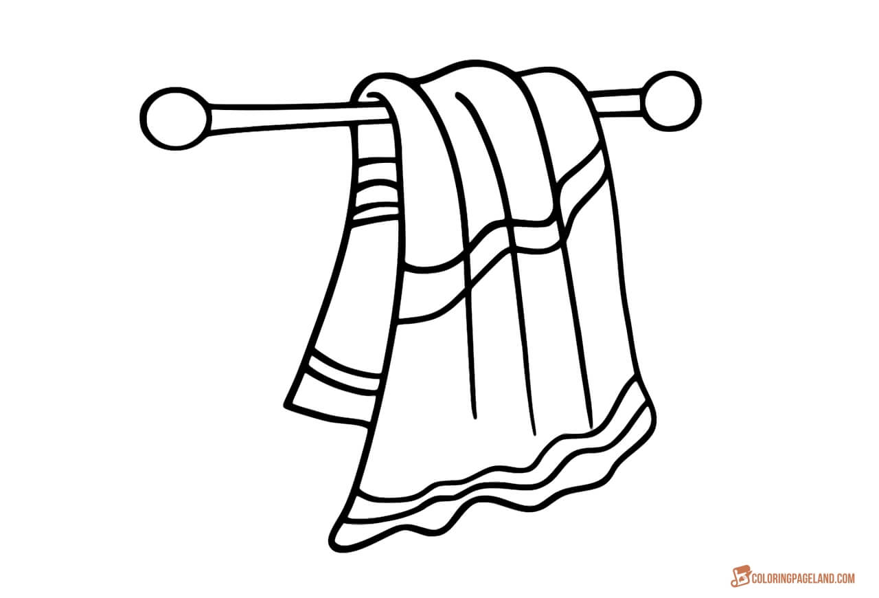 1280x870 Powerful Towel Coloring Page