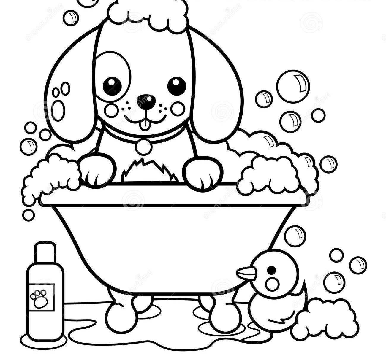 Bathtime Coloring Pages - Coloring Home | 1200x1300