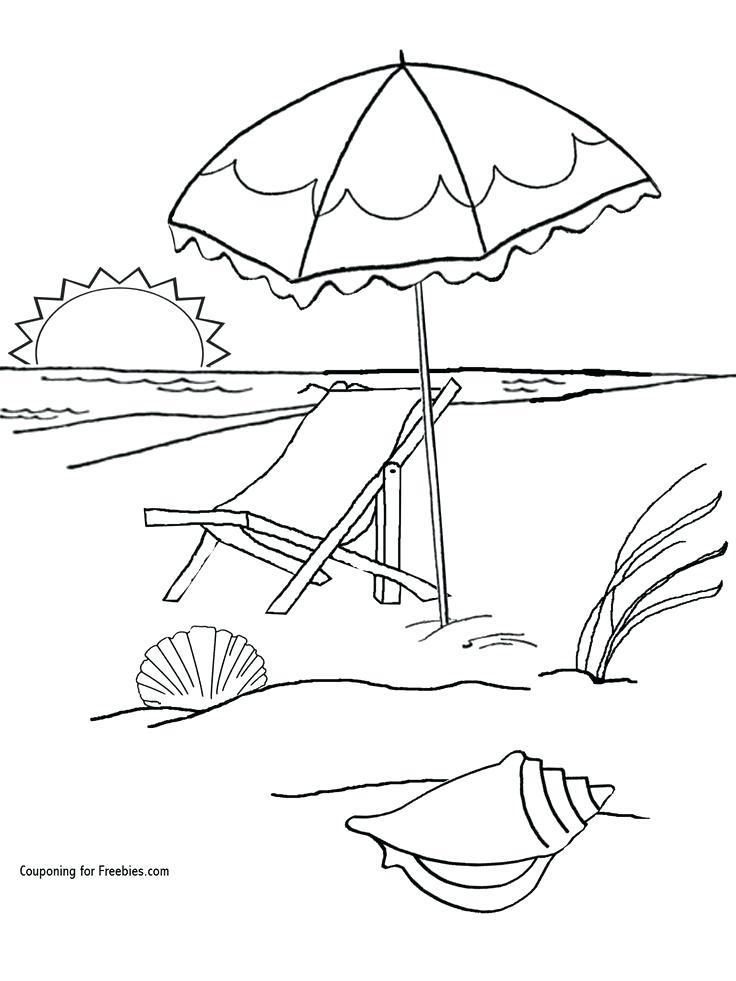 736x981 Beach Coloring Pages Coloring Pages Beach Beach Towel Coloring