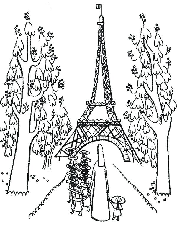 600x780 Eiffel Tower Coloring Pages Tower Holiday At Tower Coloring Page