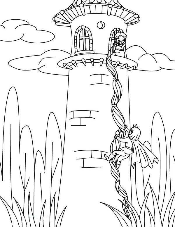 600x776 Rapunzel Tangled Tower Coloring Pages Coloring Book