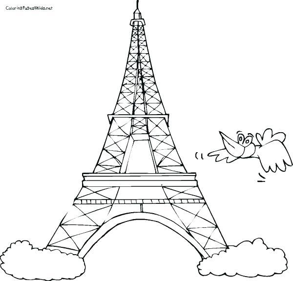 600x576 Eiffel Tower Coloring Sheet