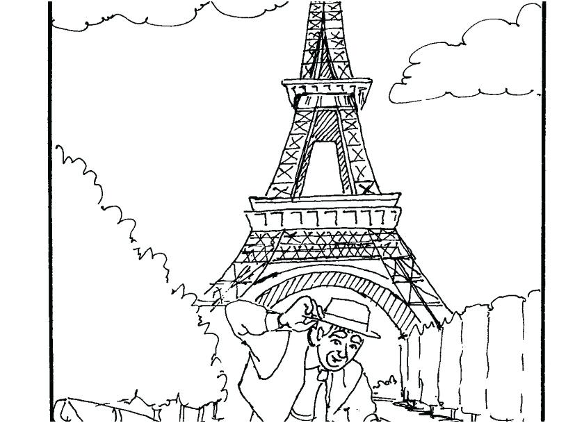 827x609 Eiffel Tower Coloring Page Tower Coloring Pages Photographs Tower