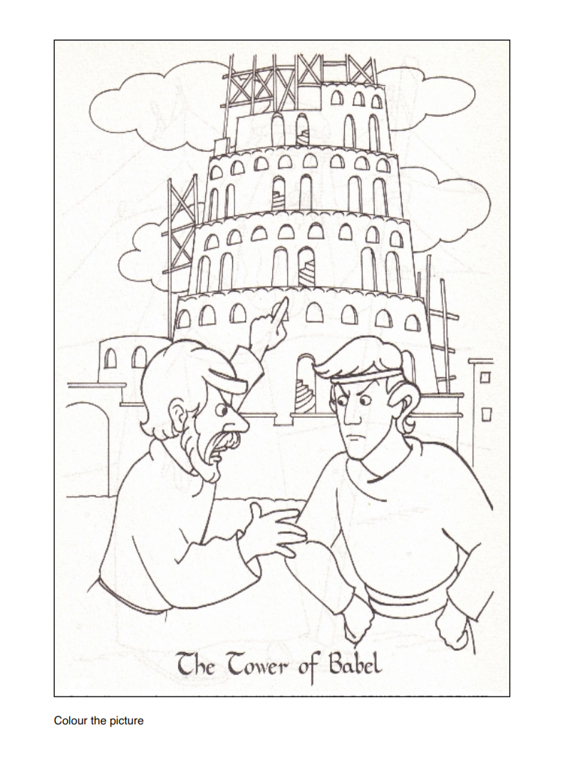 793x1080 Happy Mothers Day Coloring Pages And Free Printable Tower Of Babel