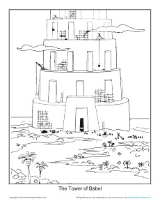 230x298 The Tower Of Babel Coloring Page Printable Sheet