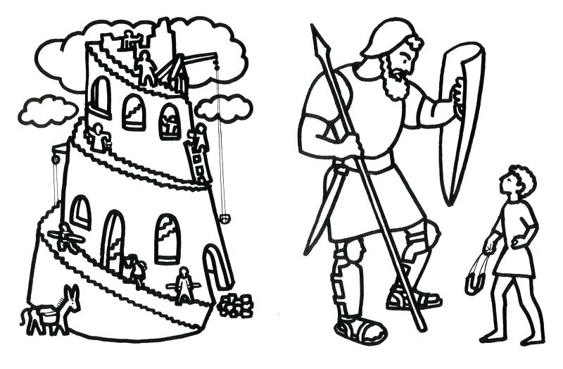 800x524 Tower Babel Coloring Page Computer Coloring Pages Tower
