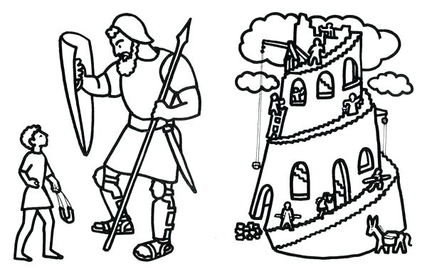 600x393 Tower Of Babel Coloring Page Pages Bible Colouring Sheets