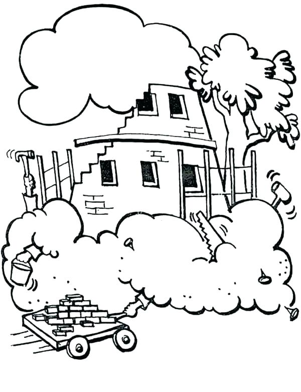 600x781 Tower Of Babel Coloring Page With Wallpaper Dual Screen Medium