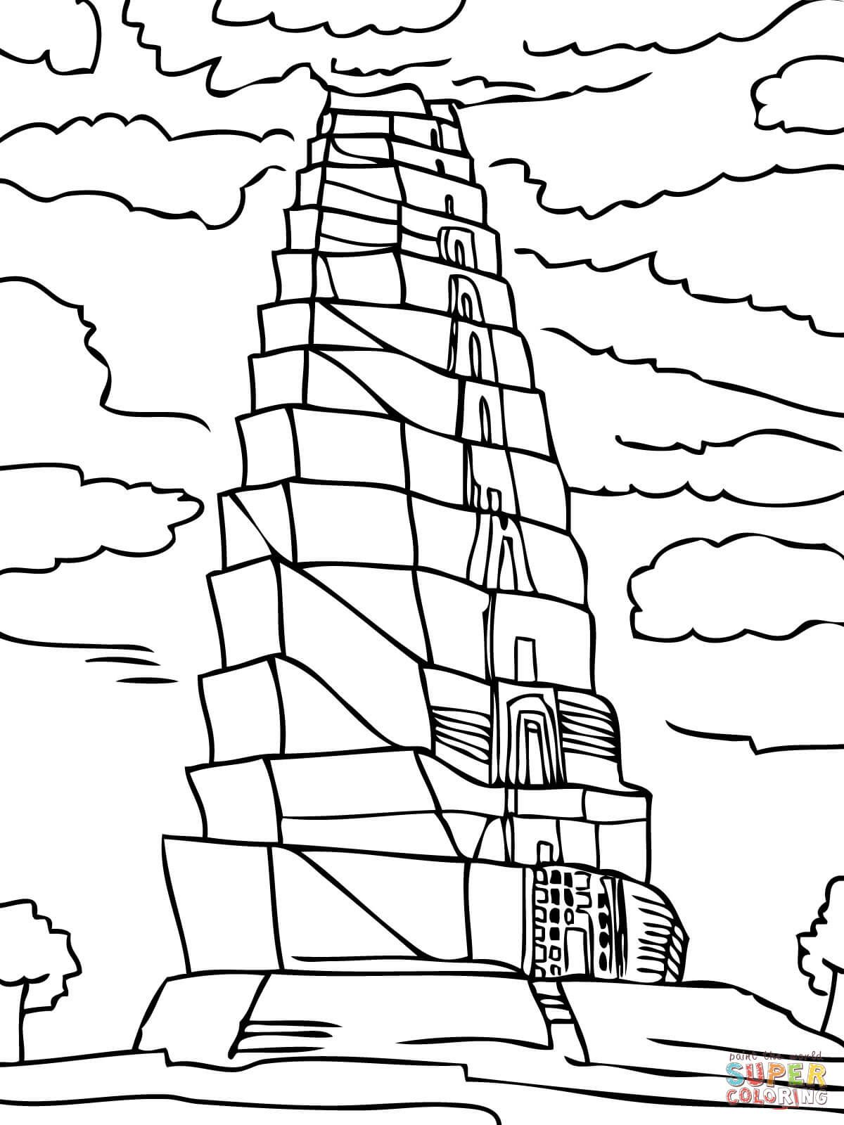 1200x1600 Tower Of Babel Super Coloring Church Crafts