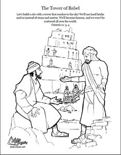 236x303 Tower Of Babel Coloring Pages For Kids Genesis The Start Of Our