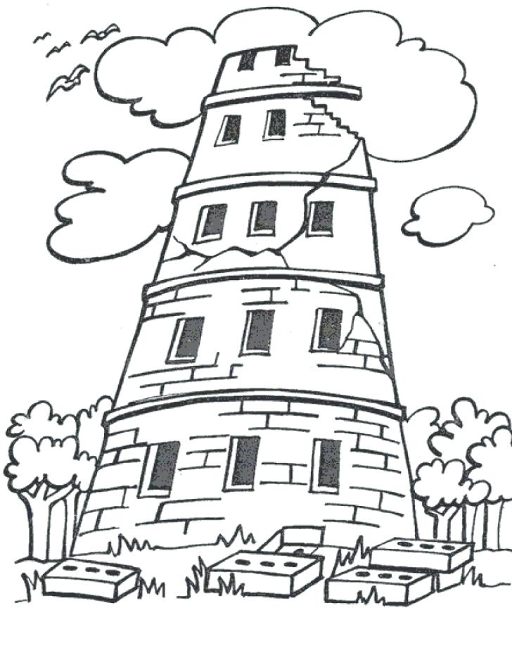 728x918 Coloring Tower Of Babel Coloring Pages The Best Images