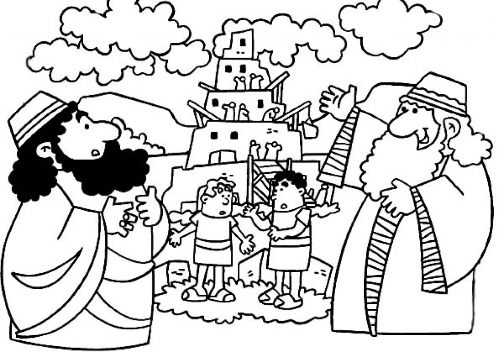 1024x715 Tower Of Babel Coloring Page Tower Of Babel Coloring Pages