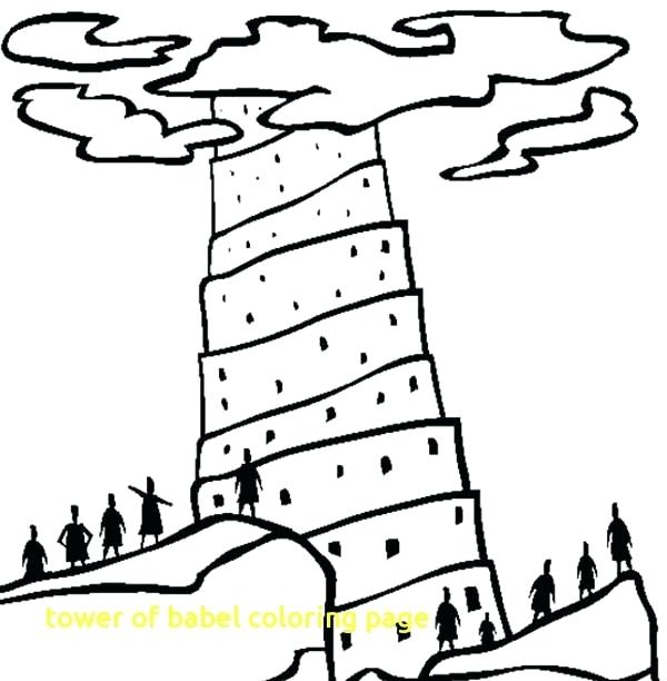 600x612 Coloring Pages For Kids Tower Of Babel Page Free Printable