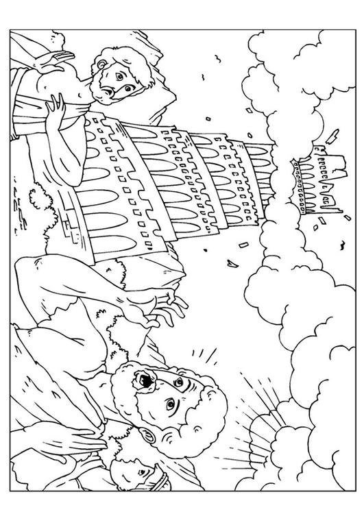 531x750 Coloring Page Tower Of Babel