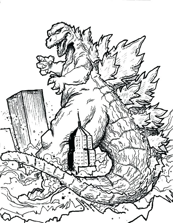 600x774 Mothra Coloring Pages Space Coloring Pages Destroying Town Color
