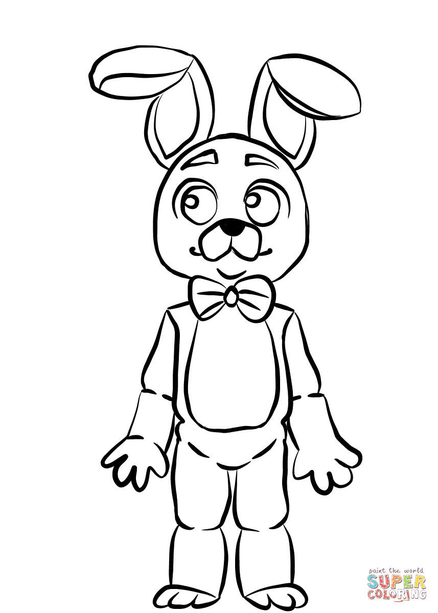 857x1200 It S Here Toy Bonnie Coloring Pages Fnaf Page