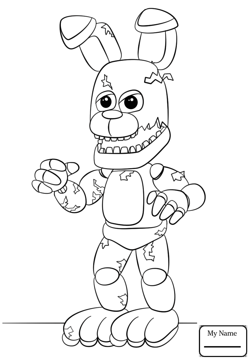 840x1210 New Toy Bonnie Coloring Pages Growth Cartoons