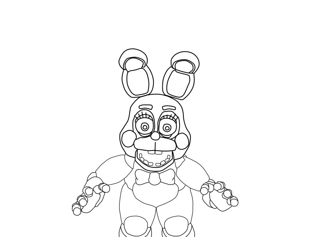 1024x768 Toy Bonnie Coloring Pages