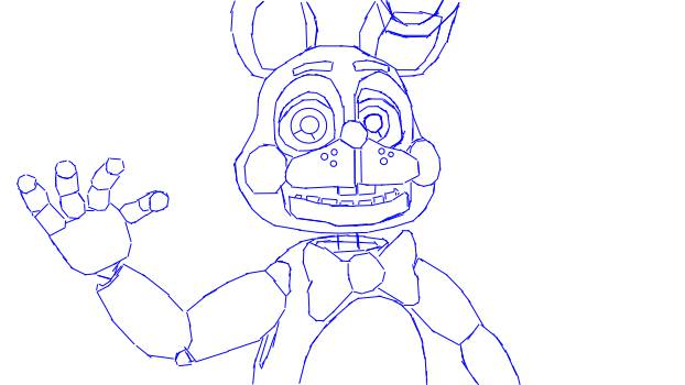 622x350 Toy Bonnie Coloring Page